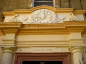 Archivio storico: stemma iniziale della Nuova Casa di Carità